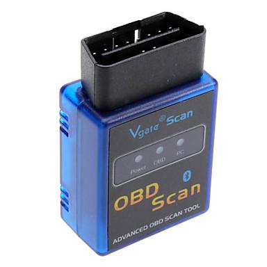 abordables Herramientas y Equipamiento para Coche-Escáner vgate elm327 bluetooth v1.5 obd2 escáner de diagnóstico del coche para android elm 327 v 1.5 obdii obd 2 herramienta de diagnóstico automático
