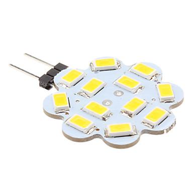 זול LED Süper Satış-1 W נורות שני פינים לד 100-150 lm G4 12 LED חרוזים SMD 5630 לבן חם 12 V