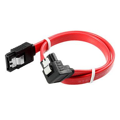90 de grade cablu de port SATA (0,5 m)