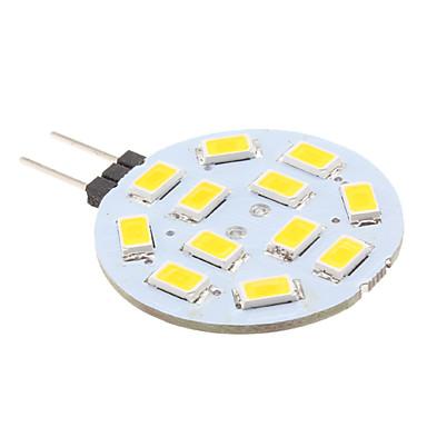 2 W Becuri LED Bi-pin 240 lm G4 12 LED-uri de margele SMD 5630 Alb Cald 12 V / # / CE