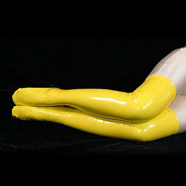 Șosete / ciorapi Costum Pisică Costum de piele Ninja Adulți Costume Cosplay Sex Bărbați Pentru femei Galben Mată Halloween / Înaltă Elasticitate