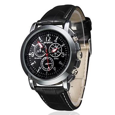 Bărbați Ceas de Mână Aviation Watch Quartz Piele PU Matlasată Negru / Maro Ceas Casual Analog Charm Clasic - Negru Alb