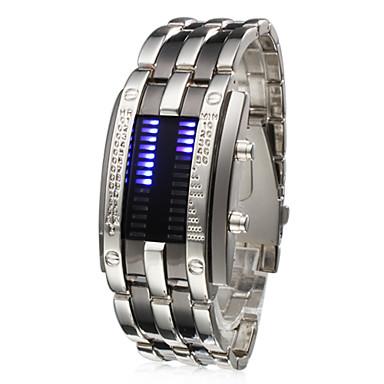 お買い得  メタルバンド腕時計-男性用 リストウォッチ ユニークなクリエイティブウォッチ デジタル カレンダー デジタル シルバー / ステンレス / ステンレス / 1年間 / LED / SSUO CR2025