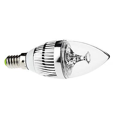 3 W Becuri LED Lumânare 250-350 lm E14 C35 3 LED-uri de margele LED Putere Mare Intensitate Luminoasă Reglabilă Decorativ Alb Natural 220-240 V 110-130 V