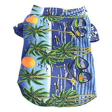 ieftine Imbracaminte & Accesorii Căței-Pisici Câine Tricou Îmbrăcăminte Câini Curcubeu Galben Albastru Costume Bumbac Floral / Botanic Nuntă Modă XS S M L XL