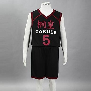 Inspirat de Kuroko nu Basket Aomine Daiki Anime Costume Cosplay Costume Cosplay Imprimeu Fără manșon Vestă / Pantaloni scurți Pentru Bărbați