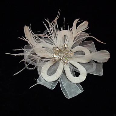 Tul / Cristal / Pană Diademe / Palarioare cu 1 Nuntă / Ocazie specială / Party / Seara Diadema / Material Textil / Aliaj