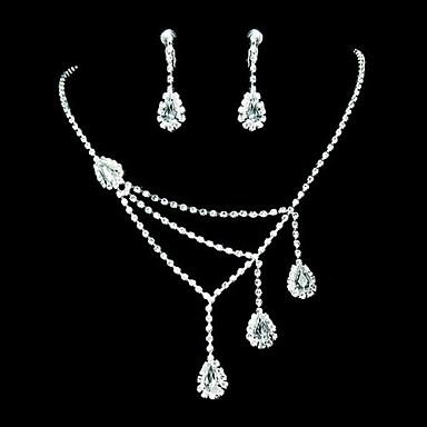 Pentru femei Transparent Seturi de bijuterii cercei Bijuterii Pentru Petrecere Ocazie specială Aniversare Zi de Naștere Cadou Gril pe Kamado  / Cercei / Coliere