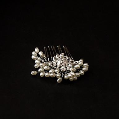 Cristal / Imitație de Perle / Material Textil Diademe / Îmbrăcăminte de păr cu 1 Nuntă / Ocazie specială / Party / Seara Diadema / Aliaj