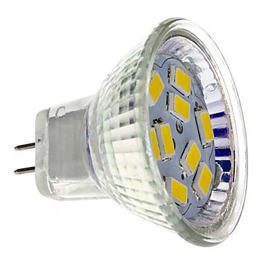olcso Tömeges LED fényforrások-2 W LED szpotlámpák 200 lm GU4(MR11) MR11 9 LED gyöngyök SMD 5730 Meleg fehér 12 V