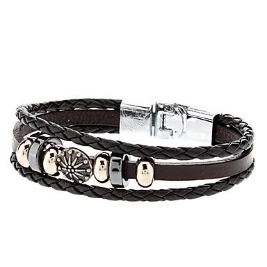 Pentru femei Brățări cu Talismane Bratari din piele - Piele Brățări Bijuterii Argintiu / negru Pentru Sport