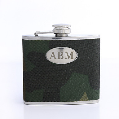 Personalizate cadouri Perioada 5 uncii din piele PU cu majuscule Flask