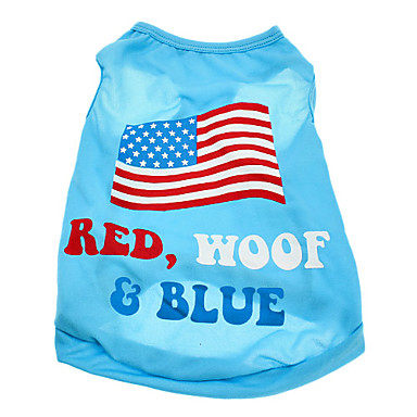 Câine Tricou Îmbrăcăminte Câini Costume Bumbac American / USA Steag Național XS S M L