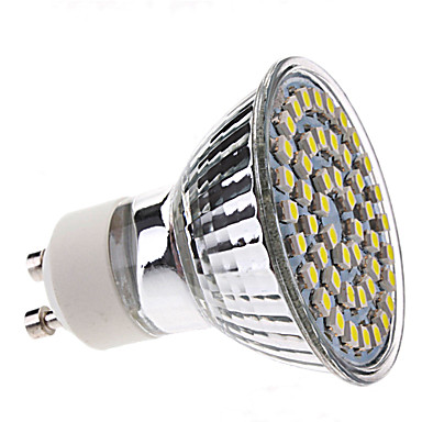 3 W Spoturi LED 250-350 lm GU10 MR16 48 LED-uri de margele SMD 3528 Alb Natural 220-240 V / CE