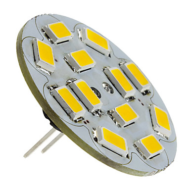 رخيصةأون LED وإضاءة-1.5 W LED ضوء سبوت 130-150 lm G4 12 الخرز LED SMD 5730 أبيض دافئ 12 V / #