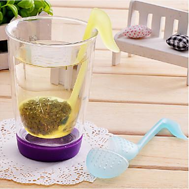olcso Teázás kellékek-fonetikai szimbólum alakú tealevél szűrő filter (véletlenszerű szín)