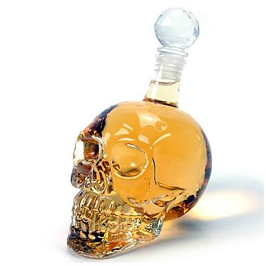 رخيصةأون أكواب و زجاجات-جمجمة الكريستال 350ml الفودكا زجاجة النبيذ الزجاج المصفق