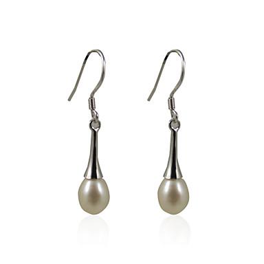 Pentru femei Ivoriu Perle Cercei Picătură Plastic Argintiu cercei Bijuterii Argintiu Pentru