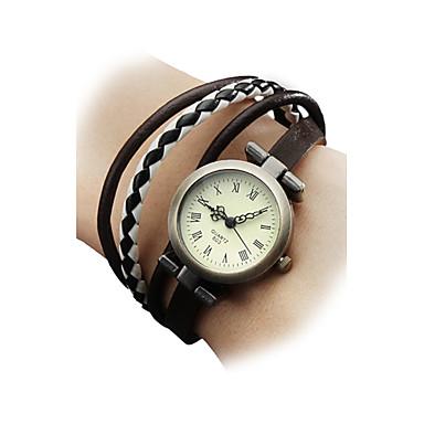 Pentru femei Ceas Brățară Ceas de Mână Japoneză Quartz Piele Autentică Multicolor Ceas Casual femei Boem Modă - Negru Maro Un an Durată de Viaţă Baterie / SSUO SR626SW