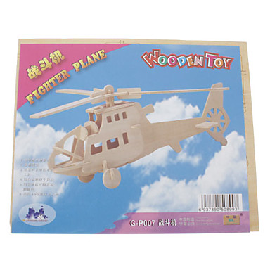 Puzzle 3D Puzzle Lemn Luptător Elicopter Distracție De lemn Clasic Băieți Fete Jucarii Cadou