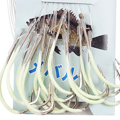 undiță noctilucent de pescuit maritim, cu 45cm-line (30 buc / pachet), 12 # -15 # hq002 (galben)