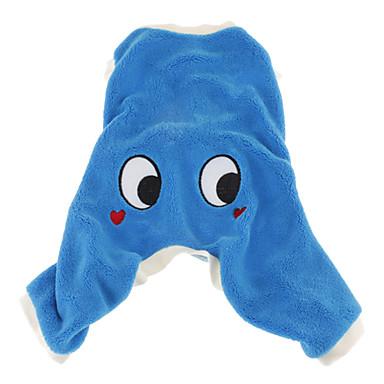 Câine Costume Salopete Iarnă Îmbrăcăminte Câini Mov Verde Albastru Costume Catifea cord Desene Animate Cosplay XS S M L