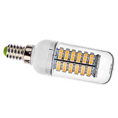 Becuri LED Corn 410 lm E14 120 LED-uri de margele SMD 3528 Alb Cald 220-240 V