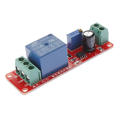 olcso Modulok-Késleltetés időzítő kapcsoló beállítható 0-10 másodpercenként NE555 oszcillátor bemenet 12V
