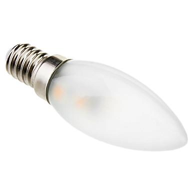 1 buc 1 W Becuri LED Lumânare 50-70 lm E14 C35 7 LED-uri de margele SMD 5050 Decorativ Alb Cald 220-240 V / # / RoHs