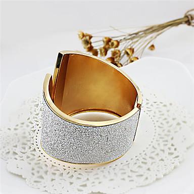 ieftine Brățări-Pentru femei Brățări Bantă Wide Bangle Clasic Gol Αστέρι Aliaj Bijuterii brățară Auriu / Argintiu Pentru Cadouri de Crăciun Casual