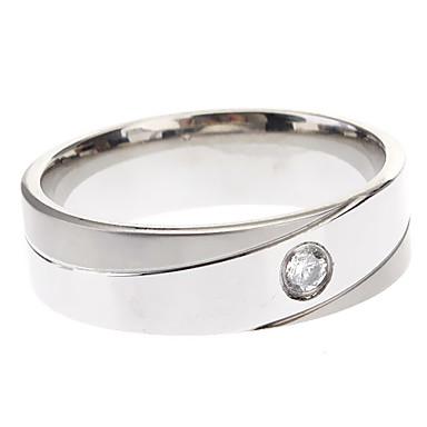 Bărbați Pentru femei Band Ring - Oțel titan stil minimalist Bijuterii Pentru Petrecere O Mărime