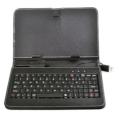 Tastatură USB Suport din piele de caz cu suport pentru 7 inch Tablet PC