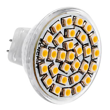 SENCART 1 buc 3 W Spoturi LED 3500 lm MR11 30 LED-uri de margele SMD 3528 Alb Cald 12 V