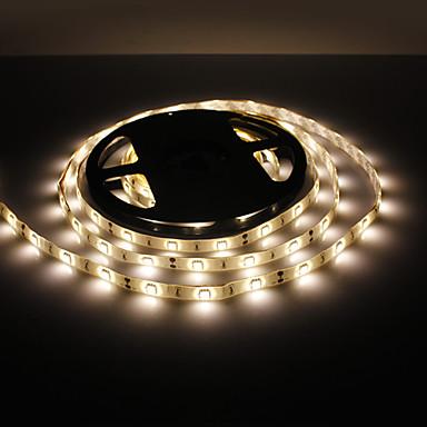 5m Fâșii De Becuri LEd Flexibile 150 LED-uri 5050 SMD Alb Cald Rezistent la apă 12 V