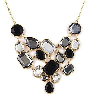 Pentru femei Onyx Coliere Vintage Colier Ștras Modă Negru / Alb Coliere Bijuterii Pentru Petrecere Zilnic Casual