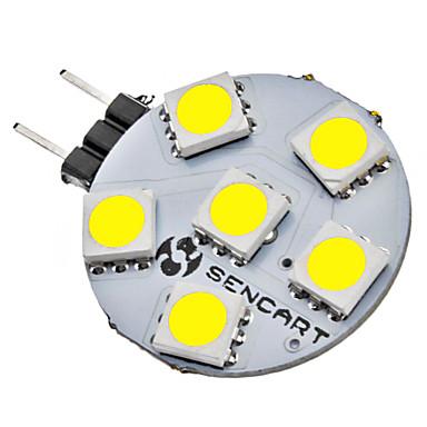 SENCART 1 buc 1 W Becuri LED Bi-pin 6500 lm G4 6 LED-uri de margele SMD 5050 Alb Natural 12 V