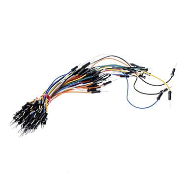 economico Connettori e terminali-Fai da te elettronico 65pcs del tagliere cavo di ponticello - Multicolor
