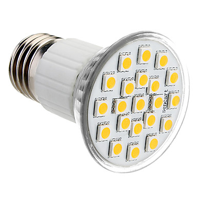 1 buc 3 W Spoturi LED 150 lm E26 / E27 21 LED-uri de margele SMD 5050 Alb Cald Alb Rece Alb Natural 220-240 V