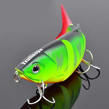 1 pcs Δόλωμα Momeală Dură Plevușcă Luminos Fluorescent Scufundare Bass Păstrăv Ştiucă Pescuit mare Pescuit de Apă Dulce Plastic Dur