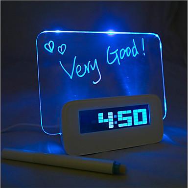 olcso Órák-üzenőfal kék fény digitális ébresztőóra 4 usb port hub 1pc (usb)