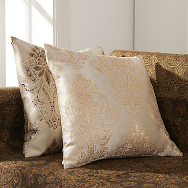 Set de 2 Elegant Jacquard poliester decorative Cover pernă