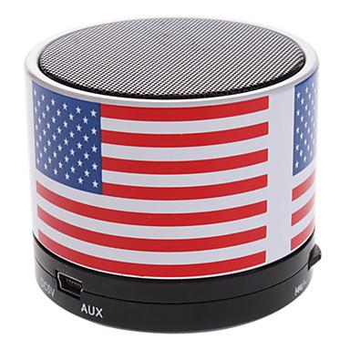 S10 Statele Unite ale Americii Flag Mini difuzor Bluetooth cu TF Port pentru telefon / laptop / Tablet PC