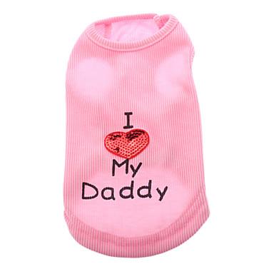 Câine Tricou Îmbrăcăminte Câini Roz Costume Bumbac Inimă Casul / Zilnic XXS XS S M L