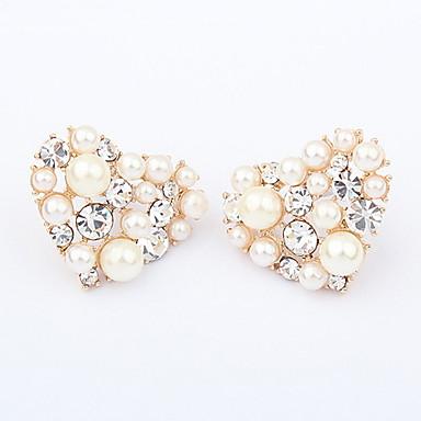 Cercei Semințe de perle Inimă Iubire femei European Perle cercei Bijuterii Auriu Pentru