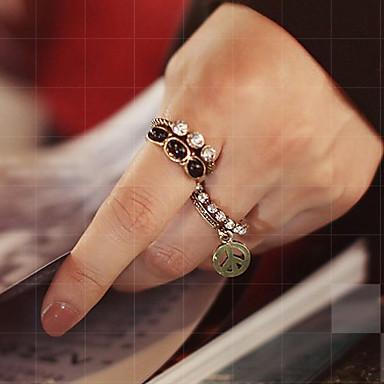 Pentru femei Inel de declarație Seturi de inele Onyx Cristal 5pcs 1 2 Pietre sintetice Aliaj femei Neobijnuit Lux Petrecere Zilnic Bijuterii Pace