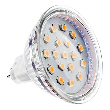 2 W Spoturi LED 150-200 lm GU5.3(MR16) MR16 15 LED-uri de margele SMD 2835 Alb Cald 12 V