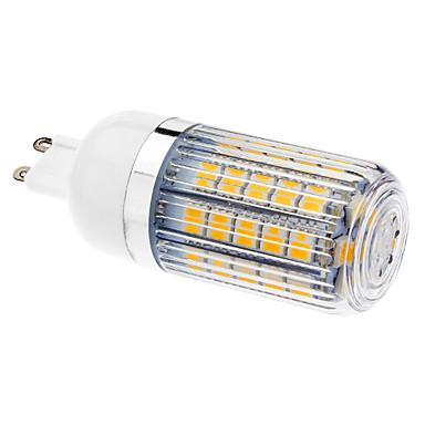 Becuri LED Corn 470-510 lm G9 T 47 LED-uri de margele SMD 5050 Alb Cald 220-240 V