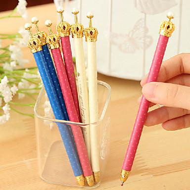 Creion Stilou Creioane mecanice Stilou, Plastic Negru Culori de cerneală For Rechizite școlare Papetărie Pachet de