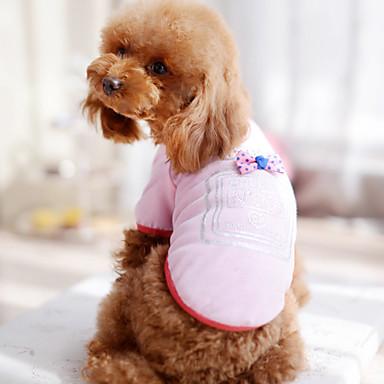 Câine Tricou Îmbrăcăminte Câini Nod Papion Trandafiriu Albastru Roz Bumbac Costume Pentru Vară