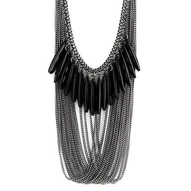 Pentru femei Multistratificat Coliere Reșină Picătură femei Modă Multistratificat Negru Coliere Bijuterii Pentru Petrecere